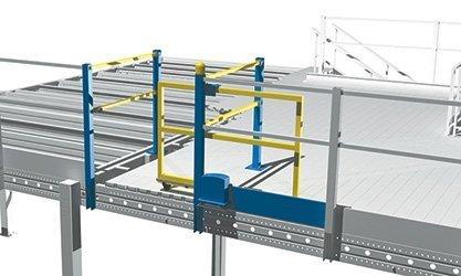 cancello elettrico soppalco industriale